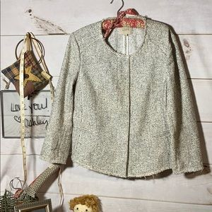 Loft; Gray Speckled Blazer; Jacket; Top; 12